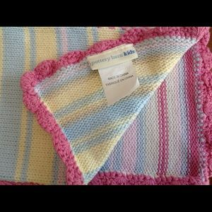 Pottery Barn Kids Baby Crochet Knit Blanket/Throw